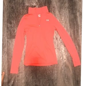 UA Dry Fit Hot Pink Quarter Zip